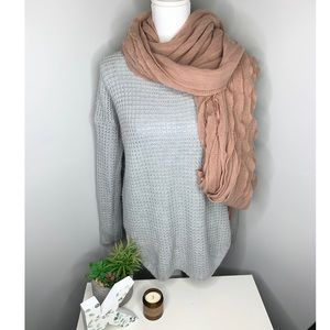 Pink Rose Gray Sweater